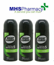 3 x RIGHT GUARD TOTAL DEFENCE 5 A.P 48h PROTECTION FRESH 150ml  0% ALCOHOL