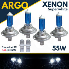 4 X H7 55w Super White Xenon Upgrade Headlight 501 Bulbs Set 499 12v Full/dipped