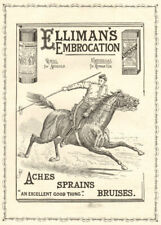 Elliman's embrocation. ADVERT. Militaria 1896 antique ILN full page print