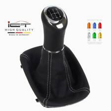 ICT 100% leather gear shift knob boot Audi A6 C5 Typ 4B LED stitches silver B10