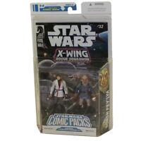 Star Wars Comic Pack WEDGE ANTILLES & BORSK FEY'LYA w/Comic Book (X-Wing Rogue32