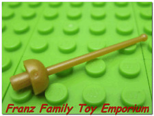New LEGO Minifig Weapon Pearl GOLD SWORD Foil Disney Captain Hook Pirate Part