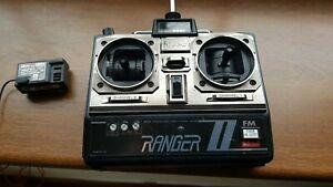 Vintage Hitec Ranger 2 40MHz FM Transmitter, 3 Channel Receiver with Crystals