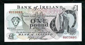 Northern Ireland Bank of Ireland (P65) 1 Pound 1982 UNC