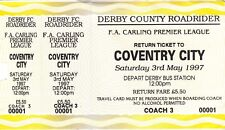 Ticket - Derby County Coach Ticket for Match at Coventry City 03.05.97