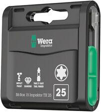 Wera Bit-Box 15 Impaktor TX, TX 25 x 25 mm, 15-teilig 05057775001 Torx Bits Set