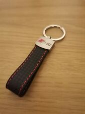 Audi RS 3,4,5,6,7,8 KEYRING FOB Carbon Leather Free Next Day Delivey