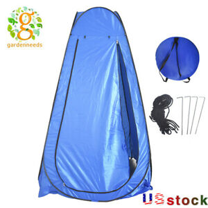 Portable Pop Up Toilet Shower Privacy Tent Changing Room Camping Shelter Blue US