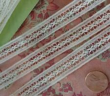 """5/8"""" Very Fine French Antique Lace Val Trim 3.5 yards wide tulle"""