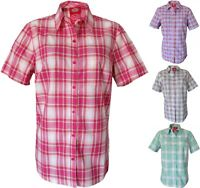 Women's Dickies Plaid Shirts, Short Sleeve, Size S-2XL, Four Colors Available