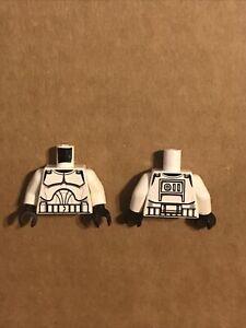 Lego Star Wars White Torso Armor Clone Trooper Pattern Clone Wars (SINGLE Piece)