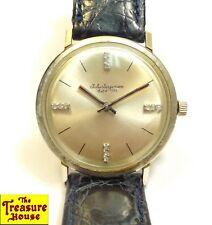 Vintage Jules Jurgensen Est'd 1740 Diamond Manual Wind 14K White Gold Wristwatch