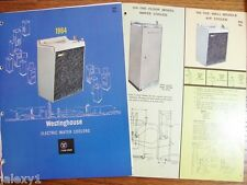 1964 WESTINGHOUSE Electric WATER COOLERS Hot Cold Floor Built In Vintage Catalog
