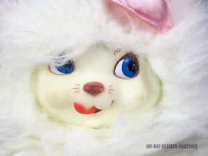 "RARE VINTAGE DAN DEE KITTY SURPRISE RUBBER FACE VINYL WHITE PLUSH CAT 1990s 14"""