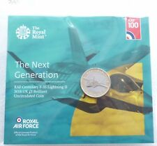 2018 Royal Mint British Royal Air Force Lightning II BU £2 Two Pound Coin Pack