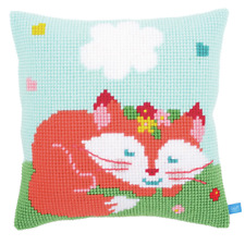 Vervaco Lief Sleeping Fox Cushion Cross Stitch Kit