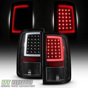 Black 2013-2018 Dodge Ram 1500 2500 3500 LED Tube Tail Lights Brake Lamps