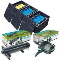 Complete Koi Fish Box Filter System / Pond Pump / UV Steriliser / Flexible Hose