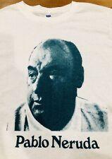 Pablo Neruda 70s Vintage T-Shirt Shirt Chilean Nobel Prize Poet Literature Rare