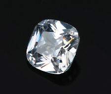 12x12mm 10.88ct White Sapphire Square Cushion Faceted Cut VVS Gems From China