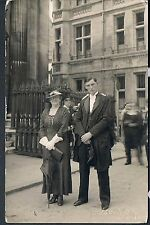PHOTOGRAPH CAMBRIDGE GRADUATION DAY MOTHER AND SON C1920'S  KIDD and BAKER
