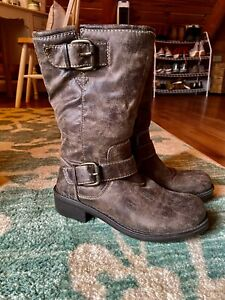 Womens Decree Buckle Moto Boots~7M~