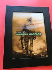 CALL OF DUTY ~ MODERN WARFARE 2 ~ T 15 x 12 - 3 D VIDEO GAME POSTER - RARE-