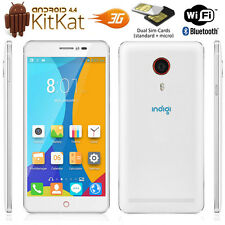 NEW Stylish 3G GSM Unlocked Dual-Core 5.5in Smart Cell Phone Android 4.4 White