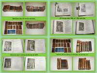 LOT DE 19 LIVRES ANCIENS 18ème & 19ème SIÈCLES DE LITTÉRATURE POÉSIES THÉÂTRE ++