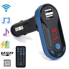 Bluetooth Wireless FM Transmitter MP3 Player Handsfree Car Kit USB Remote Blue