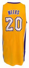 2013 Jodie Meeks LA Lakers Game-Used Home Jersey (Jerry Buss Patch • Mic Pocket)