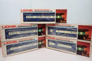 Set Of 5 Lionel O Blue Comet Heavyweight Passenger Cars 9536 9537 9538 9539 9540
