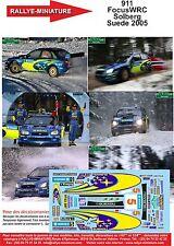 DÉCALS promo 1/43 réf 911 FocusWRC Solberg Suede 2005