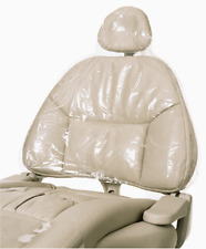 """Dental Chair Sleeves / Half Chair  27.5"""" x 24"""" Clear - Box of 225 - By Defend"""