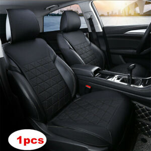 1pcs Black Car Front Seat Cover PU Leather Universal Seat Cushion Protector