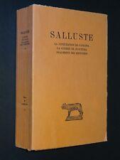 SALLUSTE - LA CONJURATION DE CATILINA - LA GUERRE DE JUGURTHA ... - 1941