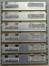 ✅Lot Barrettes Mémoire Samsung DDR3 (24Gb) 6x 4Gb 2Rx4 Pc3 10600R 1333Mhz