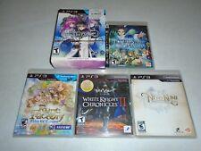 5 Games: Record of Agarest War 2, Eternal Sonata, Rune Factory, WCII, NNK ☆☆ PS3