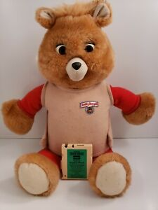 Vintage 1992 Teddy RuxPin w Lost In Boggley Woods Sound Works no motion
