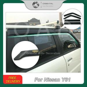 Luxury Weathershield Weather Shields Sun Visors for Nissan Patrol Y61 GU 98-16 T