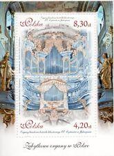 Poland 2015  Mini sheet Pipe Organ Baroque Church Music Cisterians