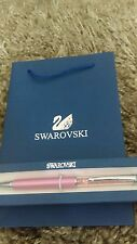 Swarovski Crystal Pen with Gift Box and Gift Bag - NEW - Light Pink