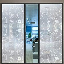 "VViViD 36"" x 24"" Flower Coil Frosted Window Privacy Film Decal"
