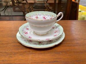 Vintage Style Paragon Bordeaux Selfridges Bone China Tea Plate Saucer Cup Trio