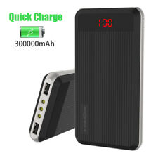 External 300000mAh Power Bank Pack Portable 2USB Battery Charger Fr Mobile Phone