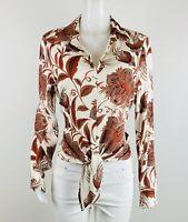 Karen Kane Women Size M Multicolor Long Sleeves Blouse Top Shirt. B48