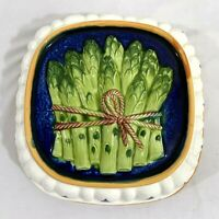 Ceramic Asparagus Mold Wall Hanging Gailstyn-Sutton Hand Painted Kitchenware