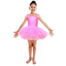 Hot Pink Tutu Leotard Girls Dance Fancy Dress Ballerina Ballet Costume NEW