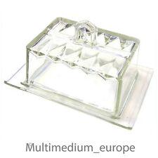 Art Deco Pressglas Butter dose Butterglocke zum Frischhalten auch für Käse usw.