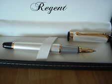 Stylo roller nacre Regent  luxueux elegant garantie coffret